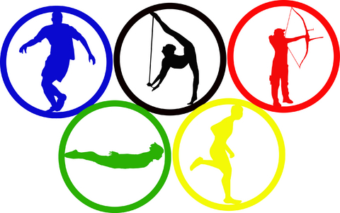 Olympic rings 2016 image - 2