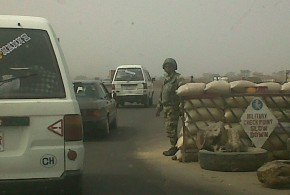 A TYPICAL MILITARY CHECK POINT IN KADUNA STATE