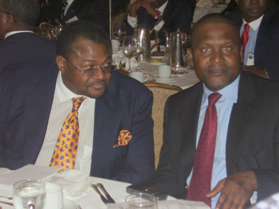 Image result for Dangote and Mike Adenuga