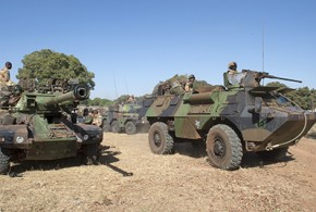 French soldiers in operation Serval in Mali