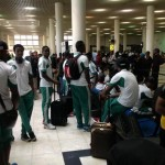 © Twitter @CollinUdoh: Eagles Arrive at the Addis Ababa Bole International Airport.