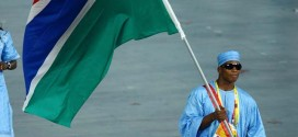 Boxer Badou Jack of Gambia Carries his Country's Flag During the Opening Ceremony for the 2008 Beijing Summer Olympics