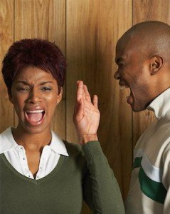 Apologise, too Black couple arguing