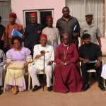 NATIONAL PRESIDENT, IGBO LEADERS OF THOUGHT, PROF. BEN NWABUEZE (4TH L), WITH MEMBERS AFTER A MEETING IN ENUGU (credit: NAN).