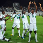 Golden Eaglets Players Celebrates During the 2013 Fifa World Cup in the UAE. Image: Getty.