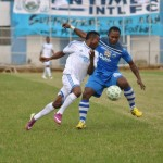 An Enyimba International Fc Player Against Giwa FC During the Clash of Two Elephants in Jos. Image: LMC.