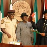 PRESIDENT GOODLUCK JONATHAN LAUNCHES THE E-PASSPORT LAST WEDNESDAY