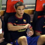 Ibrahim Afellay Pictured (M) on His Return to Barcelona Bench After Seven-Month Hiatus in the 2011/12 la Liga Season.