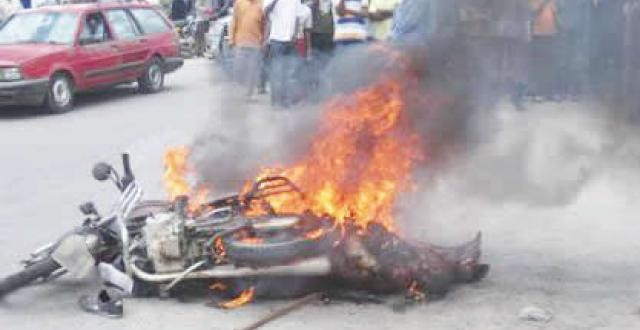 Mob Sets Suspected Female Suicide Bomber Ablaze In Bauchi
