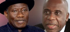 Jonathan Accepts Amaechi's Criticism Of Neglecting S/South, Promises To 'Do Something', If Re-Elected