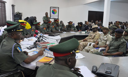 desertion army resumes court martial of 8 officers information
