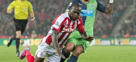 Moses Back in Training at Stoke City