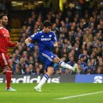 Diego Costa Converts His 11th Goal of the Season. Image: Getty.
