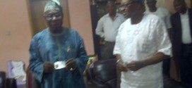 Obasanjo Receives PVC, Urges Nigerians To Guard Card Jealously
