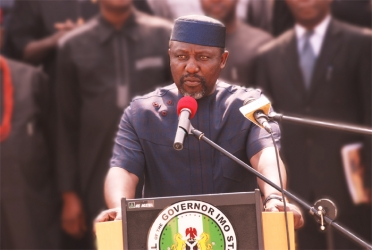 Image result for Okorocha to declare 'no PVC, no salary in Imo'