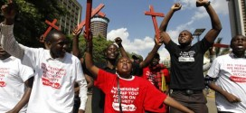 Kenya Police Fire Teargas At Protesters Protesting Security At President's Office