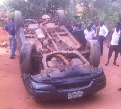 UPDATE: Drunk Driver Hits Someone, Car Somersaults As He Tries To Escape [See Photos]