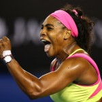 Serena Williams Clenches Her Fist After Winning Her Sixth Australian Open Title. Image: Getty via Tennis Australia.