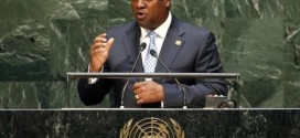 Ghana President John Dramani Mahama addresses the 69th United Nations General Assembly at United Nations Headquarters in New York