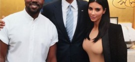 Kim Kardashian-West Shares Photo Of Her & Husband Kanye With President Obama