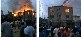 Photos: Fire In Aguda Surulere, See aftermath