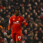 Mario Balotelli Celebrates After Scoring His First Premier League Goal Since November 2012. Image: AFP.