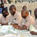 SORTING OF VOTES DURING THE NLC SPECIAL DELEGATES CONFERENCE AT THE EAGLE SQURE, ABUJA