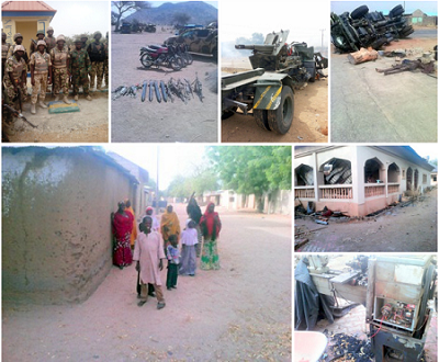 Troops Free Women And Elderly Locked Up By Boko Haram In Gwoza; Another Bomb Factory Found