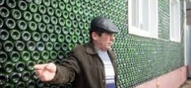 UNBELIEVABLE!!! Russian Man Builds House With 12,000 Bottles Of Champagne [Photo]