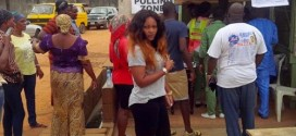 Nollywood Actress, Mercy Aigbe And Comedian, Princes Spotted At Polling Unit [PHOTOS]