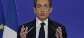 Nicolas Sarkozy, conservative UMP political party leader and former French president, attends a news conference after the close of polls in France's second round Departmental elections of local councillors at their party's headquarters in Paris