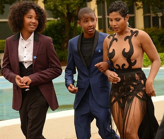Toni Braxton Shows All Her Assets In See Through Dress