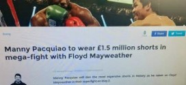 Manny Pacquiao To Wear £1.5m Shorts In Fight With Floyd Mayweather