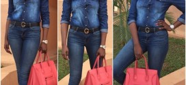 Omoni Oboli Steps Out In Denim-on-Denim