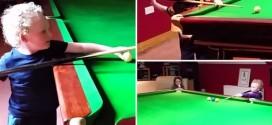 Video: Irish 3-Year-Old's Snooker Skills Makes Him A Viral Star A His Tender Age