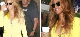 Checkout Beyoncé's Bra Matching Yellow Suit [PHOTOS]