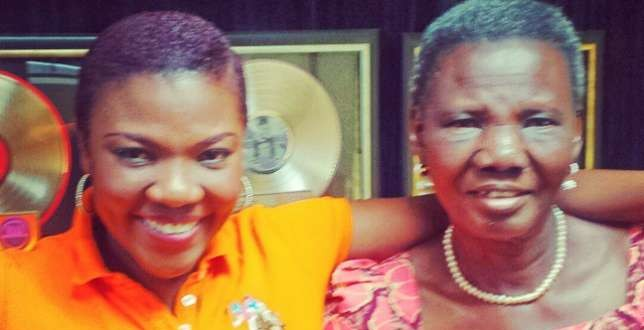 Gospel Rapper, Bouqui Takes Her Mum To The Studio On Her 73rd Birthday