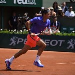 Roger Federer During His Round of 32 Clash With Damir Dzumhur at the Roland Garros. Image: RG via Getty.