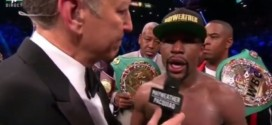 Watch Floyd Mayweather's Interview After His Triumph Over Manny Pacquiao