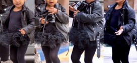 Cute North West Steps Out With Kim As She Goes For Ballet [PHOTOS]