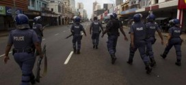 South Africa Police Fire Rubber Bullets To Disperse Power Protesters