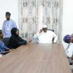 BUhari meets chibok parents