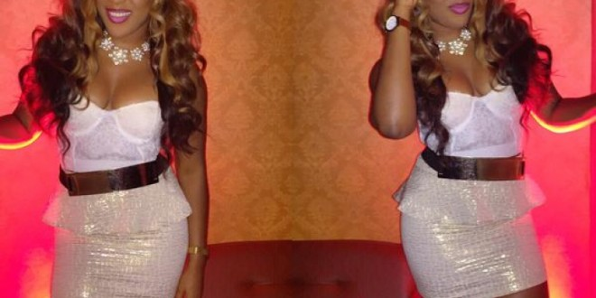 Emma Nyra Displays Ccleavage In Short Outfit