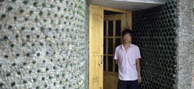 Architecture Graduate Builds Own Office With 8,500 Beer Bottles