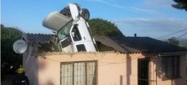 Unbelievable! No one was killed or injured after car smashes through roof of a house (photos)