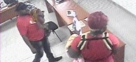 Family Of Rogues: Man With Wife & Kids Caught Stealing A Mobile Phone On CCTV In A Bank (Photos)