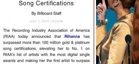 Rihanna smashes gold and platinum status records