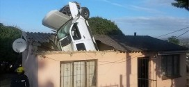 Car Goes Through Roof Of South African Home
