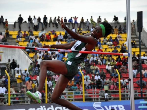 National Record Holder in the Women's High Jump Doreen Amata Win Her Event at Nigerian Trials 2015.