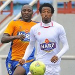 Cletus Itodo Chases Haliru Umar During a League Game. Image: BackPagePix.